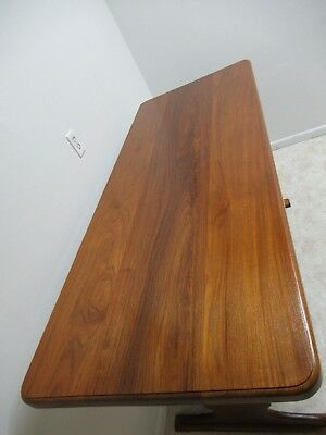 Vintage Solid Teak Mid Century High Top Dining Table Bar Custom