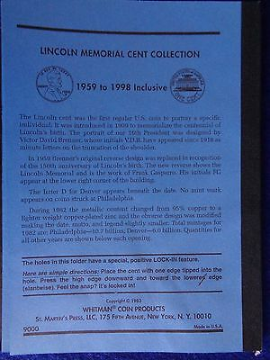 Whitman Lincoln Memorial Cents #1 & 2 1959-2008 Coin Folders, Albums Books 6