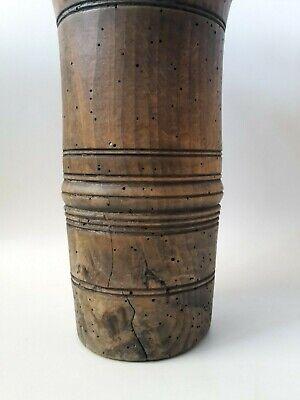original antiker Apotheker Holz Mörser Stössel Pistill wohl Nussbaum 18. Jhd. 4