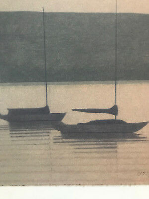 RUSSELL CHATHAM, Original lithograph, Still Evening at Tomales Bay, S/N/D 5