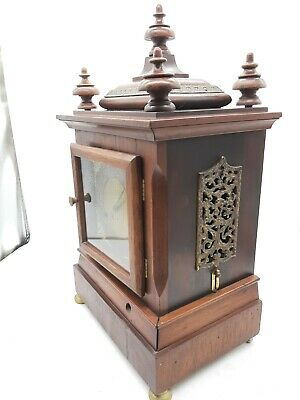 Antique 5 Coil Gong Westminster Chime Mantel Clock 1896 New Haven 11