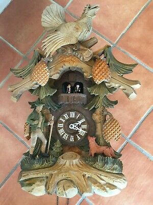 Anton Schneider Soehne Hunter Fox Large Black Forest Rare cuckoo clock 5