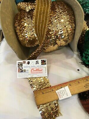 """2/""""   ELASTIC STRETCH SEQUIN TRIM  4 ROWS COLORS SEWING TRIM NEW USA"""