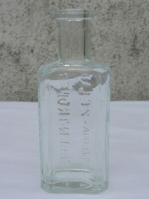 2x alte kleine Medizin Glas Apotheke Apotheker Flasche Maria Zeller Magentropfen 9
