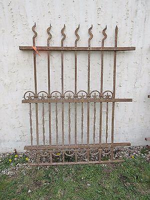 Antique Victorian Iron Gate Window Garden Fence Architectural Salvage Door #311 6