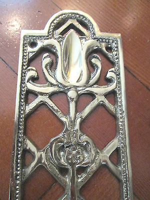 Vintage Solid Brass Decorative Tulip Design Door Plate 2