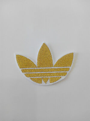 Parche bordado para  pegar , termoadhesivo estilo Adidas 7,5/5,5 cm adorno ropa 5