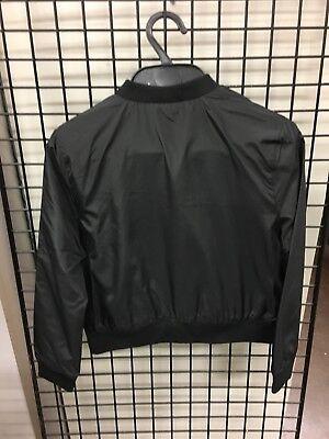 Girls Black Satin Bomber Jacket ex BHS Tammy Girl RRP £20 4