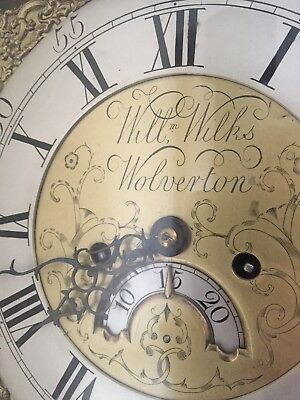 Antique Grandfather Clock Rare Original 1780! Wills And Wilks RARE 2