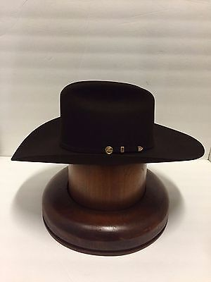 418610317dd ... Stetson Cowboy Hat 100X Beaver CHOCOLATE Fur EL PRESIDENTE+HatBrush+No  Tax Sell!