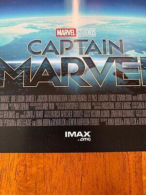 "2 CAPTAIN MARVEL AMC IMAX 8.5"" X 11"" Poster  Photo MARVEL STUDIOS Brie Larson 3"