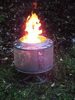 Waschmaschinentrommel als Eventbeleuchtung, Feuerstelle, Outdoorheizung, Grill 5