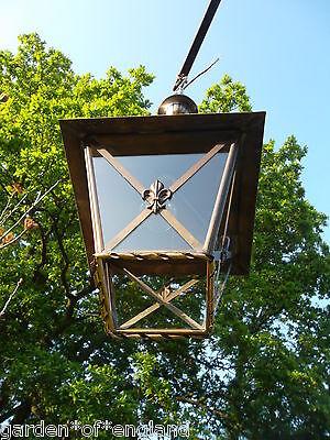 A very pretty unusual Vintage French brass lantern (T157) 10