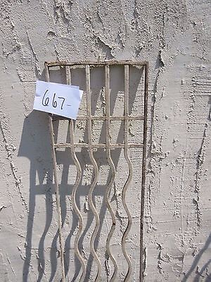 Antique Victorian Iron Gate Window Garden Fence Architectural Salvage Door #667 3