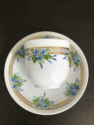 Tasse à café en porcelaine de Limoges - décor main 2