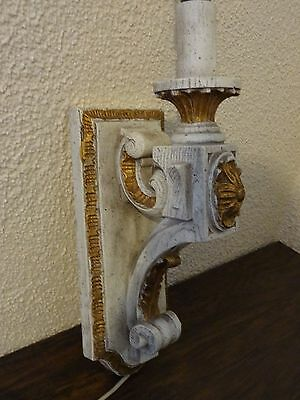 Vintage Antique Wood Sconce Door Entrance Wall Mount Light Lamp Victorian Castle 3