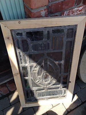 Antique Crucifix Stainglass Window Sg 48 3