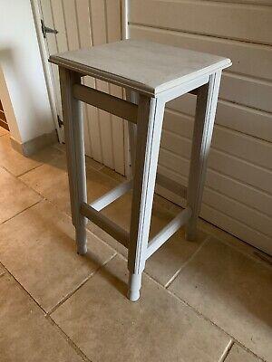 Stylish Plinth Display Stand Stool Table Paris Grey Old Pine 2