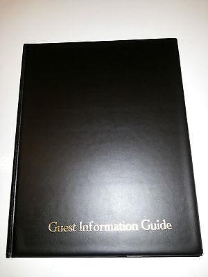 Guest Information Guide Pvc Folder 7 A4 Double Pockets Ref Black/Gold 4