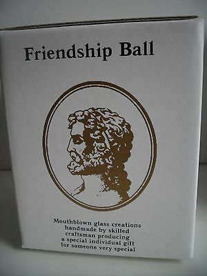 Glass Mouth Blown Spirit or Friendship Ball Mocha/Beige 8cm Boxed  Ideal Gift 2