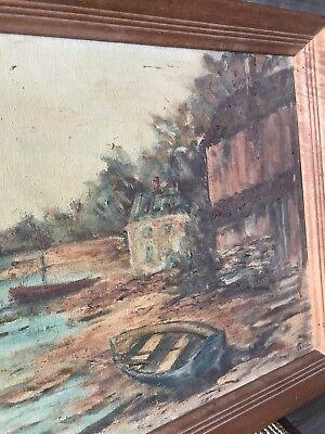 Vintage GRAHL Landscape Oil Painting Rare 10