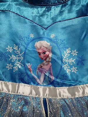 Frozen Queen ELSA Blue Dress Up,Play Dress,Girls 3-8,Hairbow,Snowflake Bracelet