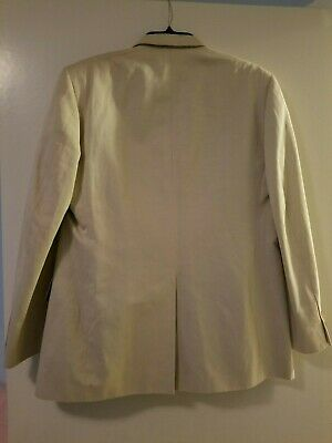 Banana Republic Modern suit Beige Jacket/Pant Set 40R / 34-32 new w defects. 8