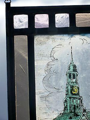 "Bleiverglasung Fensterbild Glasmalerei ""Hamburger Sankt Katharinen Kirche"""