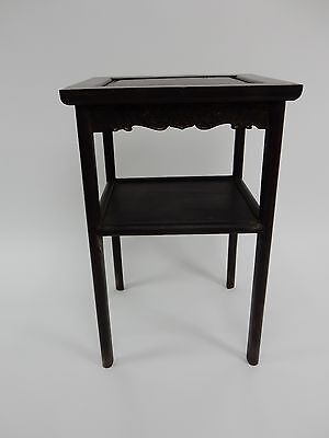 Gorgeous Antique Chinese Zitan Two tier  Wood Side Table RARE!!  28 inches 11