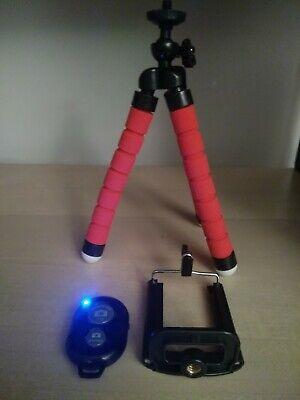 Treppiede cavalletto Flessibile supporto smartphone go pro telecomando Bluetooth 8