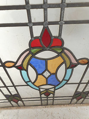 Vintage Stained Glass Window Panel (3035)NJ 3
