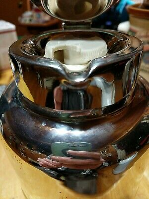 Vintage ITALIAN Silver Plated Vacuum Pitcher 11