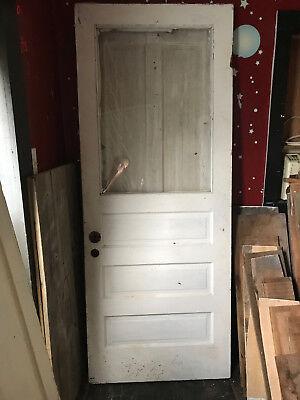 """Old Wood Door  With Plexi Glass 79 3/4"""" x 31 3/4"""""""