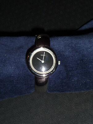 Spangen Designer Silber 835 Damen Armbanduhr Golda 70er 80er Jahre - Handaufzug