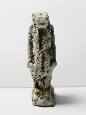 Zurqieh -Af53- Ancient Egypt Large Taweret Faience Amulet. 600 - 300 B.c 3