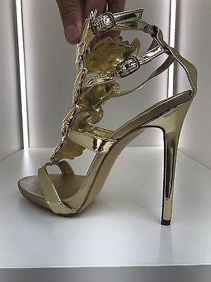 gladiator 13 cm Sexy Gold Gelb peeptoes fetish sky sandals high heels 43 42 us11 9