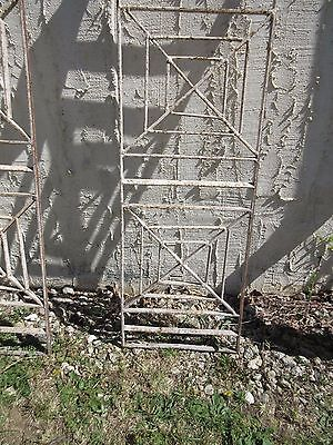 Antique Victorian Iron Gate Window Garden Fence Architectural Salvage Door #407 3