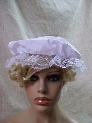 White Mob Cap Colonial Hat Maid Victorian Servant Betsy Ross Martha Washington