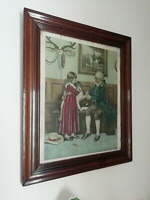 Antique Victorian First Aid Picture After Original Watercolour Frank Dadd 8