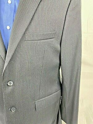 Joe Joseph Abboud Mens Large Dress Suits Navy Blue Pin Stripe 3