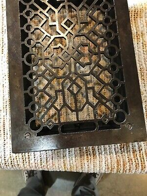 J 23 Antique cleaned and lacquered heating grate 9.75 x 13 5/8 4