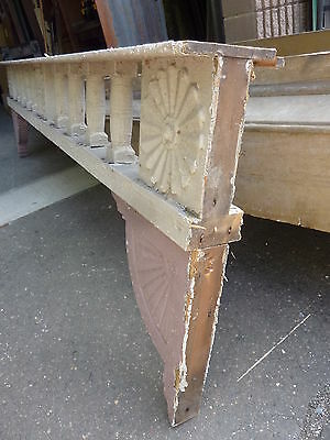 c1882 VICTORIAN GINGERBREAD porch spandrel FRETWORK pediment ~ FANCY 90.5 x 25.5 12