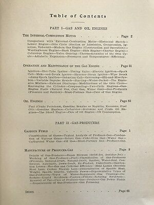 Gas and Oil Engines And Gas-Producers By Marks-Wyer 1908 Hit Miss Book 5