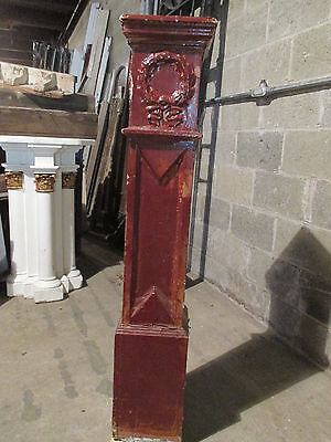 ~ Antique Carved Oak Newel Post ~ 49 Inches Tall ~  Architectural Salvage ~ 6