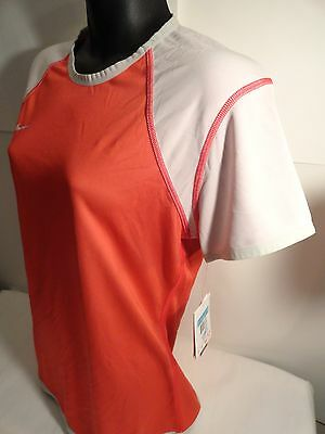 ... Nike Women s Reversible Dri-FIT Soccer Jersey Medium Top Scarlet Red  Shirt 2 929d2e38a