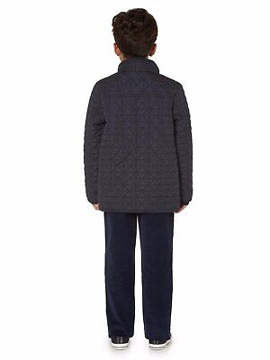 Howick Junior Boys Quilted Pocket Coat Jacket 5-6 Years BNWT RRP £43.95 Navy 3