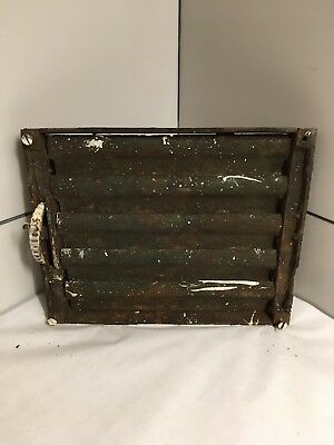 Antique Cast Iron  Grate Heating Duct Wall Box Only For Projected Grill Item#88 3