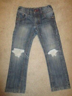Boys Next Distressed Blue Denim Jeans Age 5 2