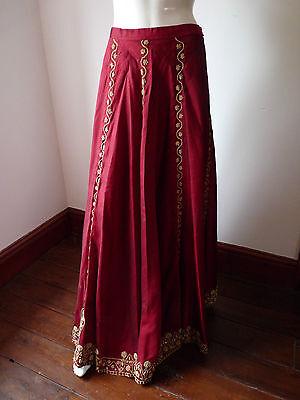 Asian Wedding Red Lengha & Dupatta     (M)  Uk 8/10  Ret £650    Bnwt 3