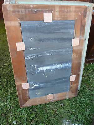 early 20th century schoolhouse SLATE chalkboard salvaged wood FRAME 45.5 x 30.75 8